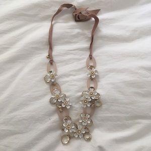 Jcrew enamel floral necklace